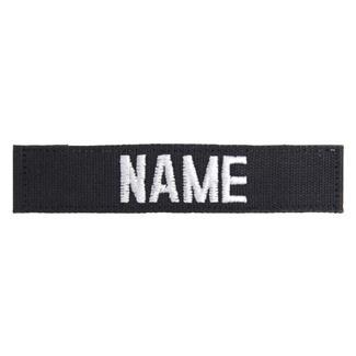 Name Tape Black / White