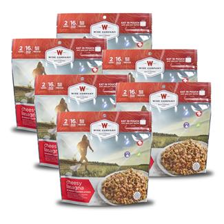 Wise Food Outdoor Meal Pouches (6 Count) Cheesy Lasagna