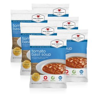Wise Food Meal Pouches (Six Count) Tomato Basil Soup with Pasta