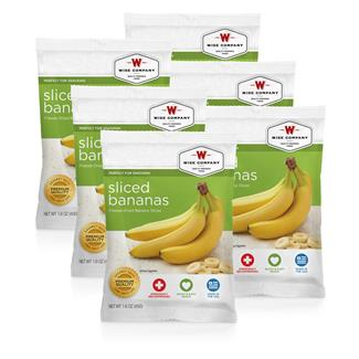 Wise Food Fruit Packs (Six Count) Sliced Bananas