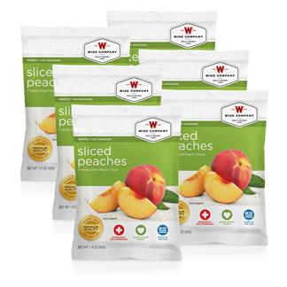 Wise Food Fruit Packs (Six Count) Sliced Peaches