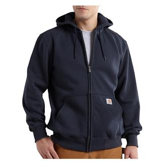 Carhartt Paxton Heavyweight Front Zip Hoodie New Navy