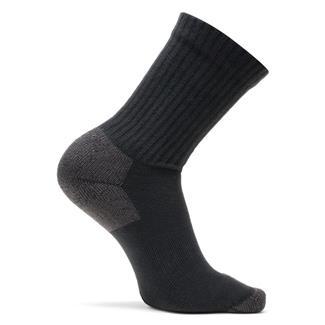 Bates Cotton Comfort Crew Socks - 3 Pair Black