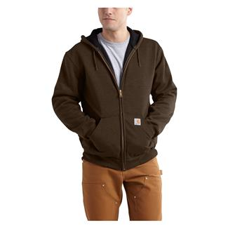 Carhartt Rutland Thermal-Lined Front Zip Hoodie Dark Brown