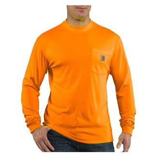 Carhartt Force Hi-Vis Color Enhanced Long Sleeve T-Shirt Brite Orange