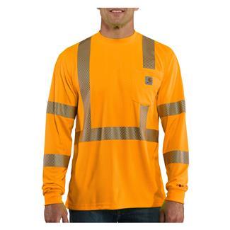 Carhartt Force Hi-Vis Class 3 Long Sleeve T-Shirt Brite Orange