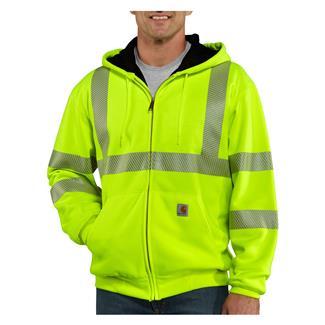 Carhartt Hi-Vis Class 3 Thermal Front Zip Hoodie Brite Lime