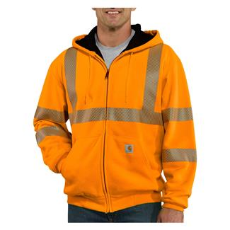 Carhartt Hi-Vis Class 3 Thermal Front Zip Hoodie Brite Orange
