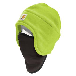 Carhartt Hi-Vis Color Enhanced 2 in 1 Fleece Headwear Brite Lime