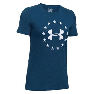 Under Armour HeatGear Freedom T-Shirt Blackout Navy / White