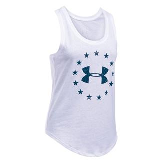 Under Armour HeatGear Freedom Tank White / Blackout Navy