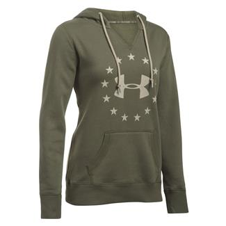 Under Armour ColdGear Freedom Favorite Fleece Hoodie Marine OD Green / Desert Sand