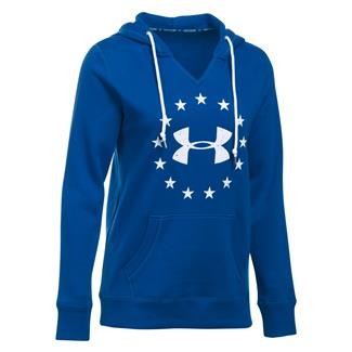 Under Armour ColdGear Freedom Favorite Fleece Hoodie Royal / White
