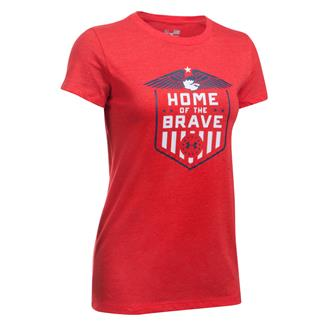Under Armour Freedom Home Of The Brave T-Shirt Red / White