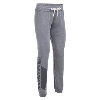 Under Armour Favorite Fleece Pants Black Light Heather / Black