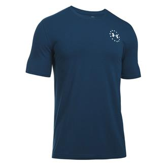 Under Armour Freedom Flag T-Shirt Blackout Navy / White