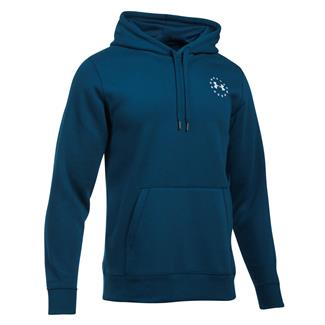 Under Armour Freedom Flag Rival Hoodie Blackout Navy / White
