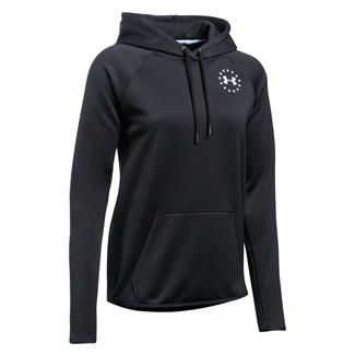 Under Armour Freedom Flag Rival Hoodie Black / White
