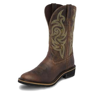 "Justin Original Work Boots 13"" Stampede Classic Western Dark Waxy Brown / Waxy Brown"