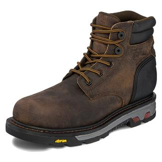 "Justin Original Work Boots 6"" Laborer Round Toe CT WP Whiskey Barrel Buffalo"