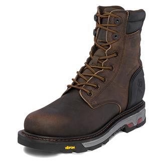 "Justin Original Work Boots 8"" Laborer Round Toe CT WP Whiskey Barrel Buffalo"