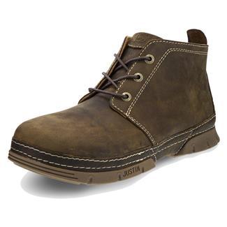Justin Original Work Boots Premium Desert ST Distressed Brown