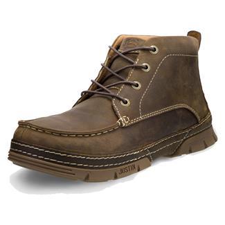 Justin Original Work Boots Premium Chukka ST Distressed Brown