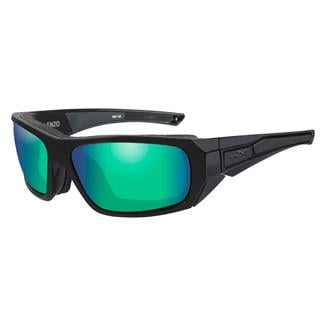 Wiley X Enzo Matte Black (frame) - Polorized Emerald Mirror (lens)