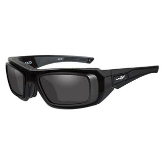 Wiley X Enzo Gloss Black with Rx Rim (frame) - Smoke Gray (lens)