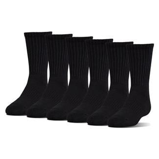 Under Armour Charged Cotton 2.0 Crew Socks - 6 Pack Black