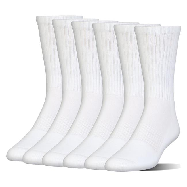 d87c7fbfd8fa Under Armour Charged Cotton 2.0 Crew Socks - 6 Pack