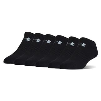 Under Armour Charged Cotton 2.0 No Show Socks - 6 Pack