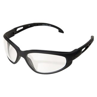 Edge Tactical Eyewear Falcon Matte Black (frame) / Clear Vapor Shield (lens)