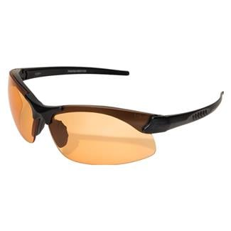 Edge Tactical Eyewear Sharp Edge Matte Black (frame) / Tiger's Eye Vapor Shield (lens)