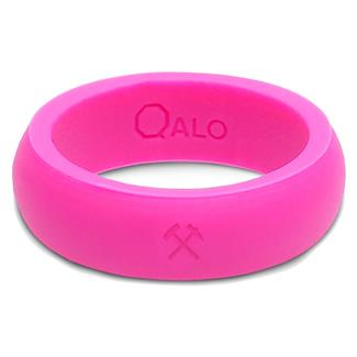 Qalo Silicone Ring with Hammer and Pick Pink