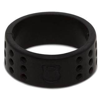 Qalo Perforated Silicone Ring with Kettlebell Black