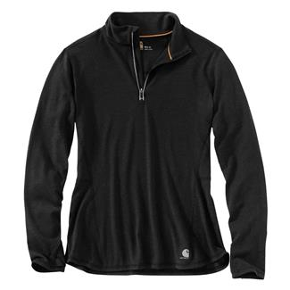 Carhartt Force Ferndale 1/4 Zip Shirt Black Heather