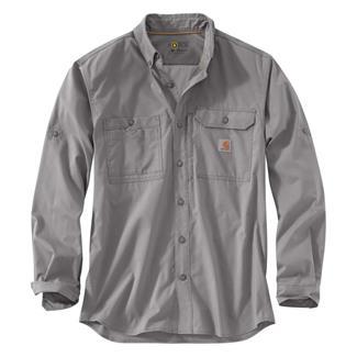 Carhartt Force Ridgefield Solid Long Sleeve Shirt Asphalt