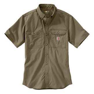 c4ef18b861 Carhartt Force Ridgefield Solid Short Sleeve Shirt Burnt Olive