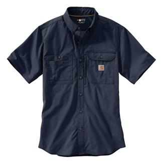 Carhartt Force Ridgefield Solid Short Sleeve Shirt Navy
