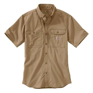 Carhartt Force Ridgefield Solid Short Sleeve Shirt Dark Khaki