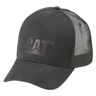 CAT Raised Logo Hat Black