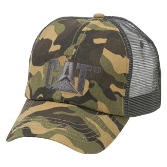 CAT Raised Logo Hat Woodland Camo