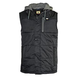 CAT Hooded Work Vest Black