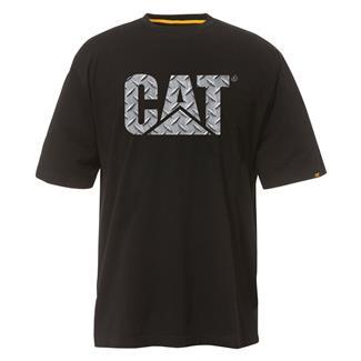 CAT Custom Logo T-Shirt Black / Diamond Plate