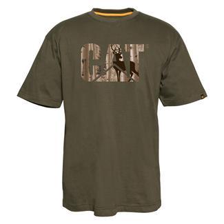 CAT Custom Logo T-Shirt Army Moss / Whitetail