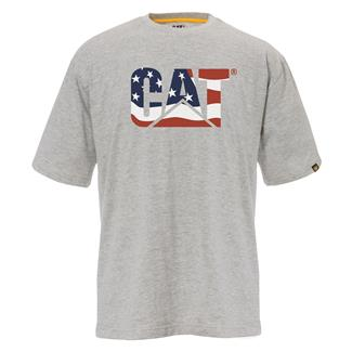 CAT Custom Logo T-Shirt Heather Gray / Flag