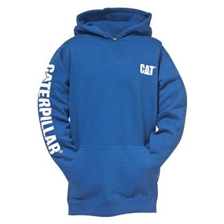 CAT Trademark Banner Hoodie Bright Blue