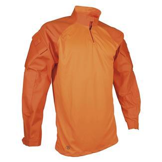 TRU-SPEC Poly / Cotton Twill 1/4 Zip Combat Shirt Hi-Viz Orange
