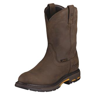 "Ariat 10"" Workhog Pull-On WP Oily Distressed Brown"